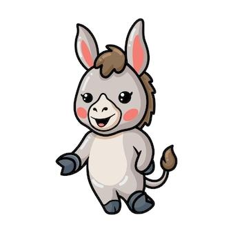 Schattige baby ezel cartoon presenteren