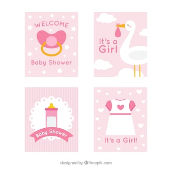 Schattige baby kaarten collectie