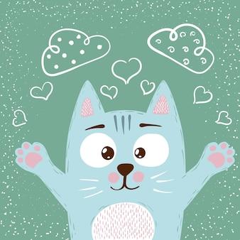 Schattige baby kat tekens