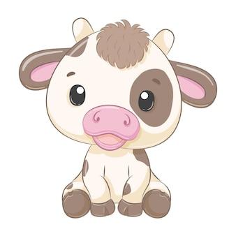 Schattige baby koe cartoon afbeelding