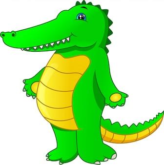 Schattige baby krokodil cartoon