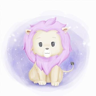 Schattige baby leeuwenkoning van jungle