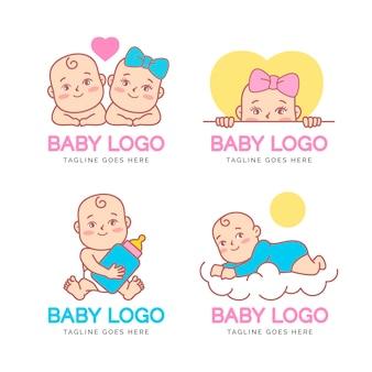 Schattige baby logo collectie