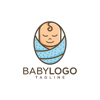 Schattige baby logo ontwerp vector
