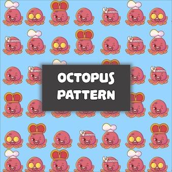 Schattige baby octopus naadloze patroon