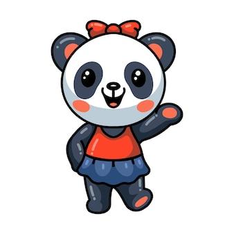 Schattige baby panda cartoon ballerina