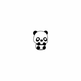 Schattige baby panda cartoon icoon