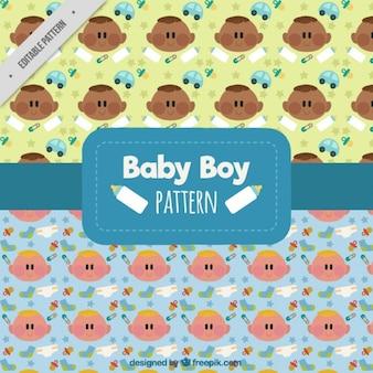Schattige baby patronen met toebehoren
