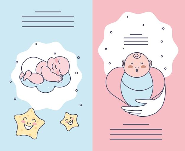 Schattige baby's banners