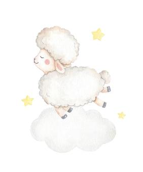 Schattige baby schapen illustratie