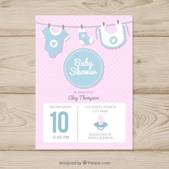 Schattige baby shower kaart