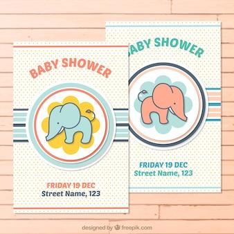 Schattige baby shower kaarten pak