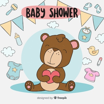 Schattige baby shower sjabloon
