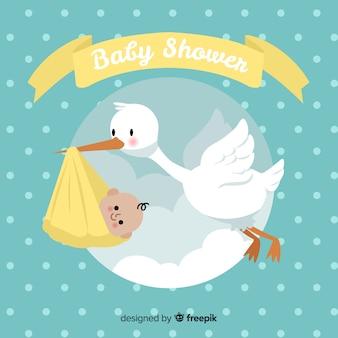 Schattige baby shower sjabloon