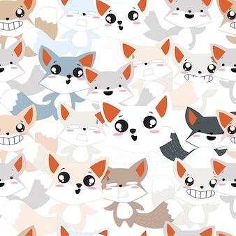 Schattige baby vos patroon