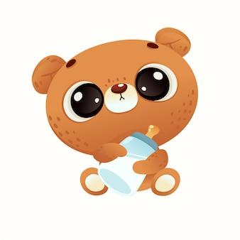 Schattige babydouche beer
