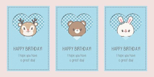Schattige babydouche of gelukkige verjaardagskaart
