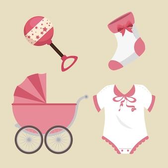 Schattige babydouche