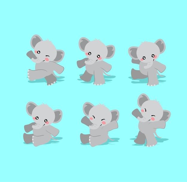 Schattige babyolifant karakter