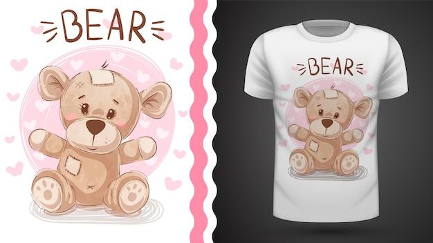 Schattige beer - idee voor afdrukken