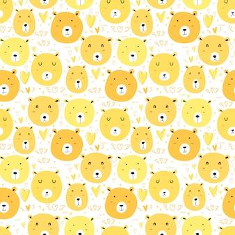 Schattige beer naadloze patroon