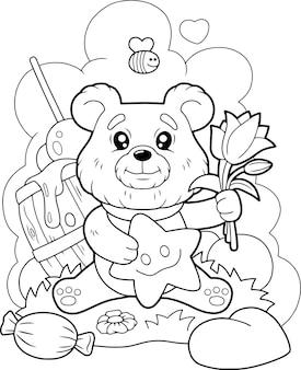 Schattige beer
