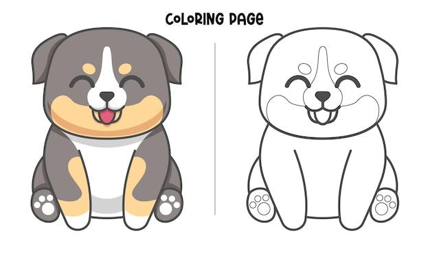 Schattige berner pup