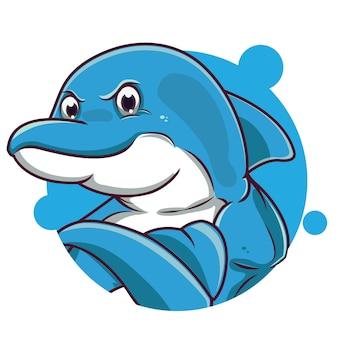 Schattige blauwe dolfijn avatar