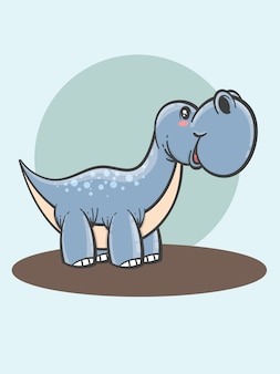 Schattige brontosaurus cartoon