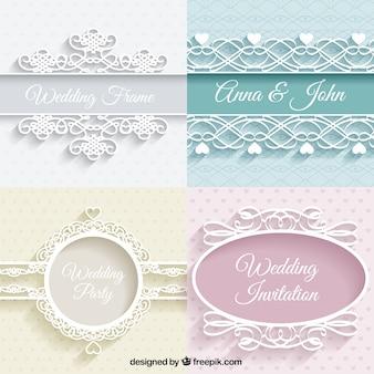 Schattige bruiloften ornamenten