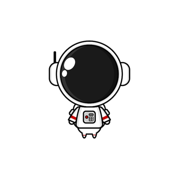 Schattige cartoon astronaut kawai