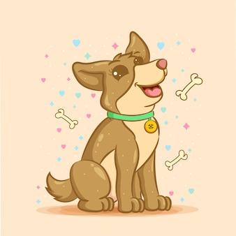 Schattige cartoon hond