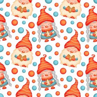 Schattige cartoon kerst kabouters naadloze patroon