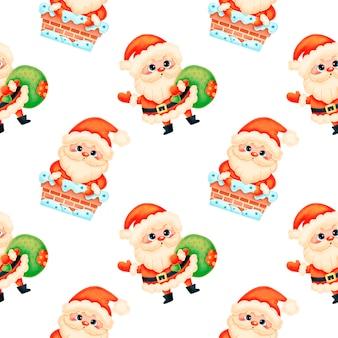 Schattige cartoon kerst naadloze patroon