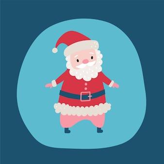 Schattige cartoon kerstman f vakantie karakter.