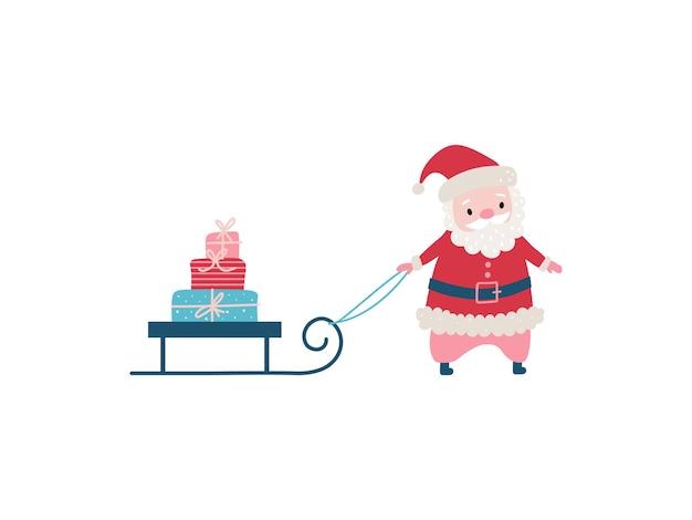 Schattige cartoon kerstman vakantie karakter.