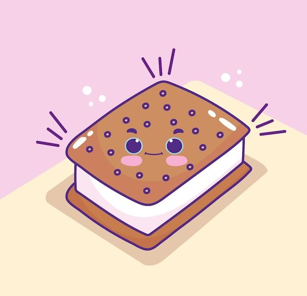 Schattige cartoon koekje
