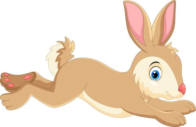Schattige cartoon konijn uitgevoerd