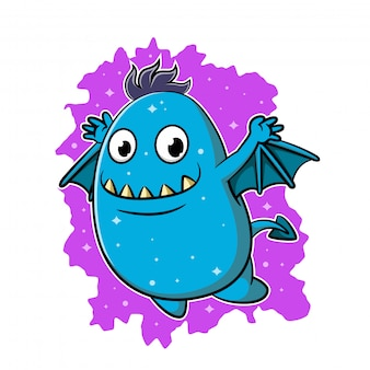 Schattige cartoon monster