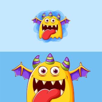 Schattige cartoon monster