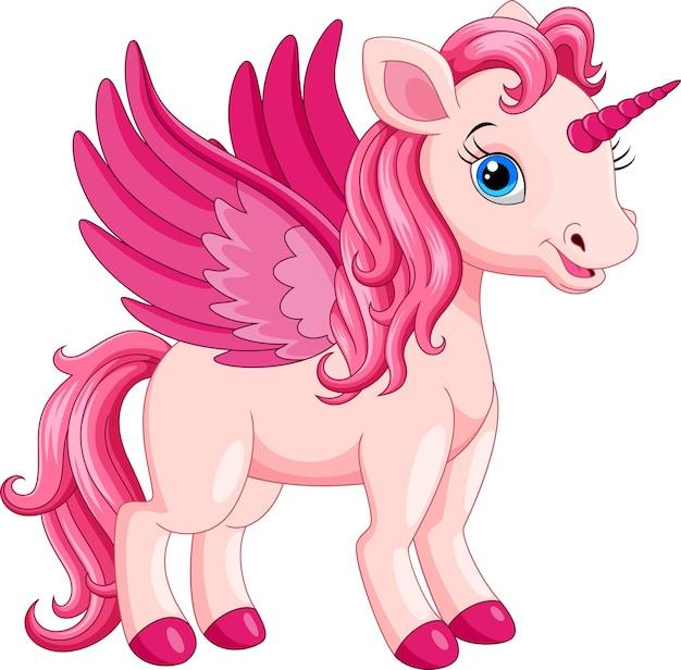 Schattige cartoon unicorn geïsoleerd op wit