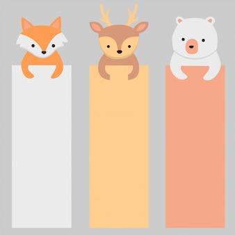 Schattige dieren banner