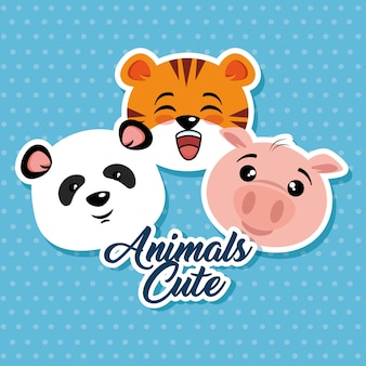 Schattige dieren cartoon