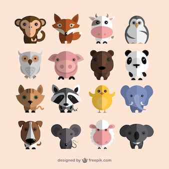 Schattige dieren collectie