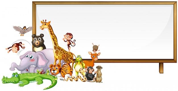 Schattige dieren frame