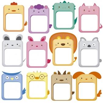 Schattige dieren frames collectie