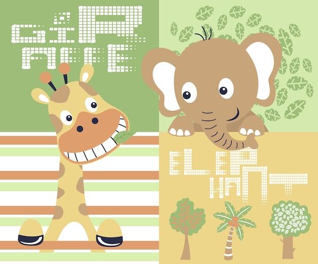 Schattige dieren safari cartoon