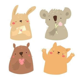 Schattige dieren set