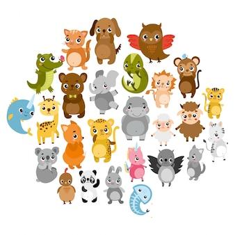 Schattige dierentuin dieren