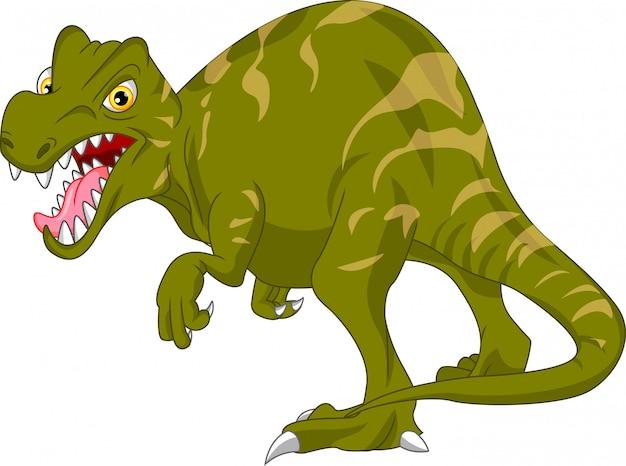 Schattige dinosaurus cartoon